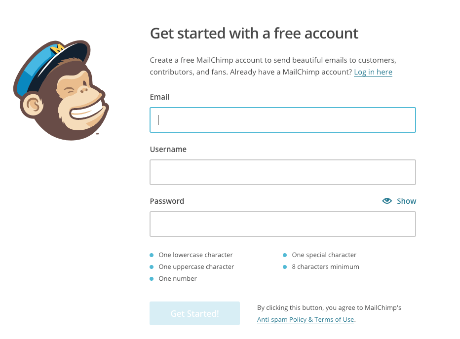 Register Form Mailchimp