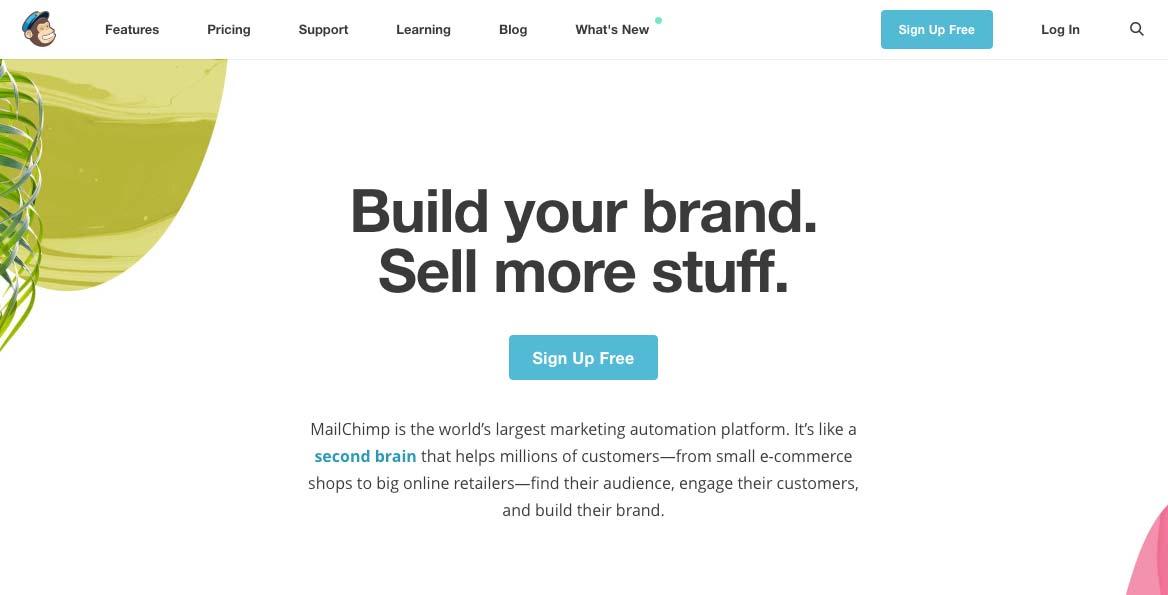 Design Landing Page Mailchimp
