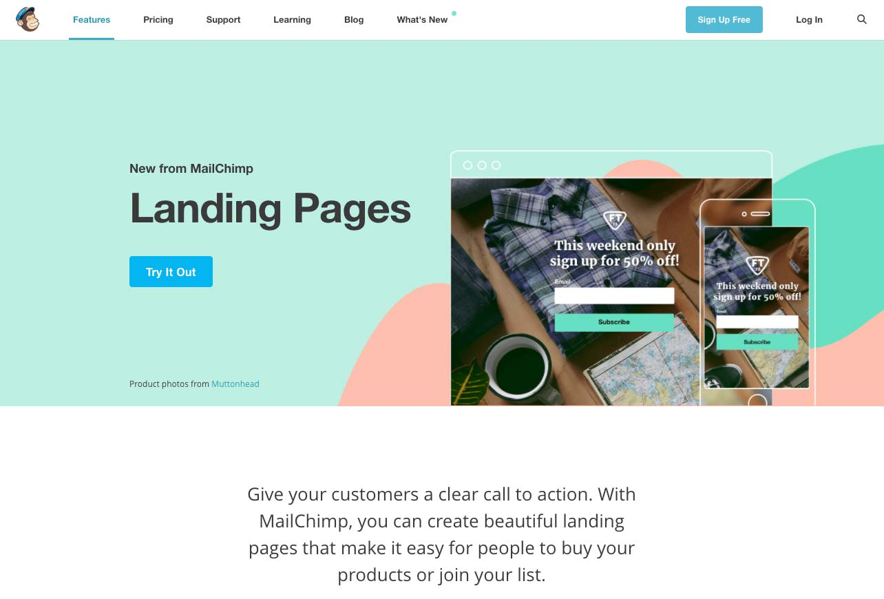 the best landing page builders and softwares in 2019mailchimp landing page builder