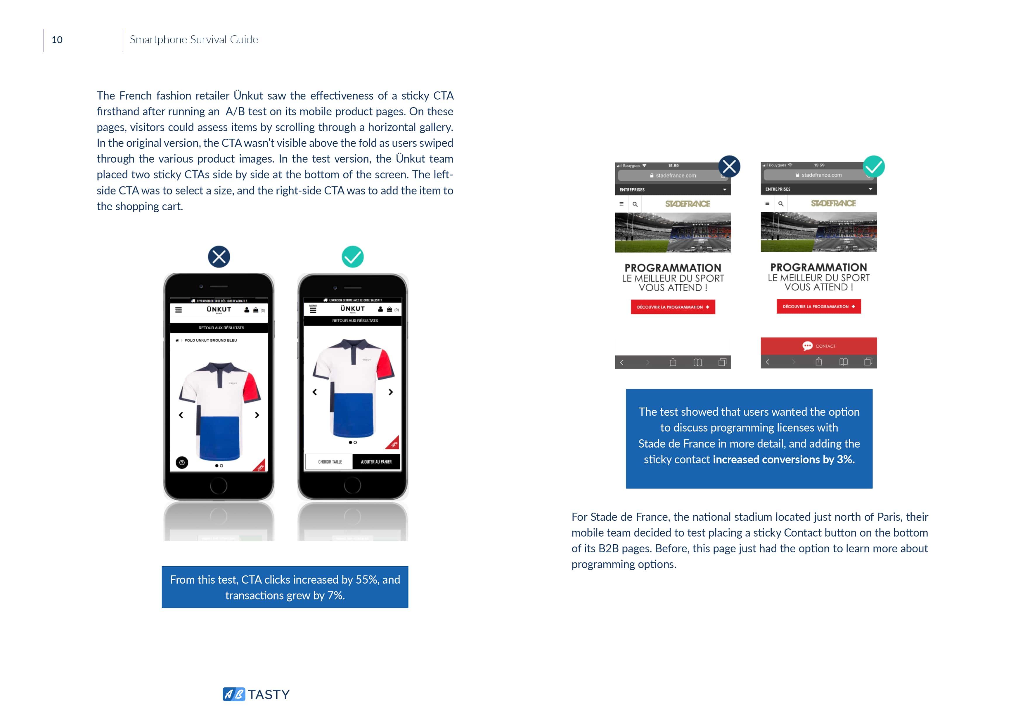 mobile page sticky cta