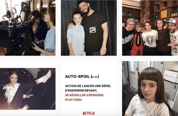compte instagram de Netflix exemple