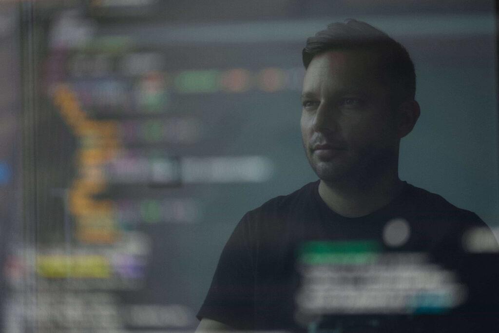 Developer analyzing code