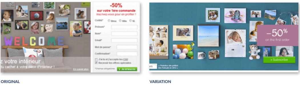 Photobox personalization