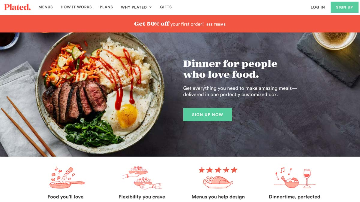 Plated Landing Page