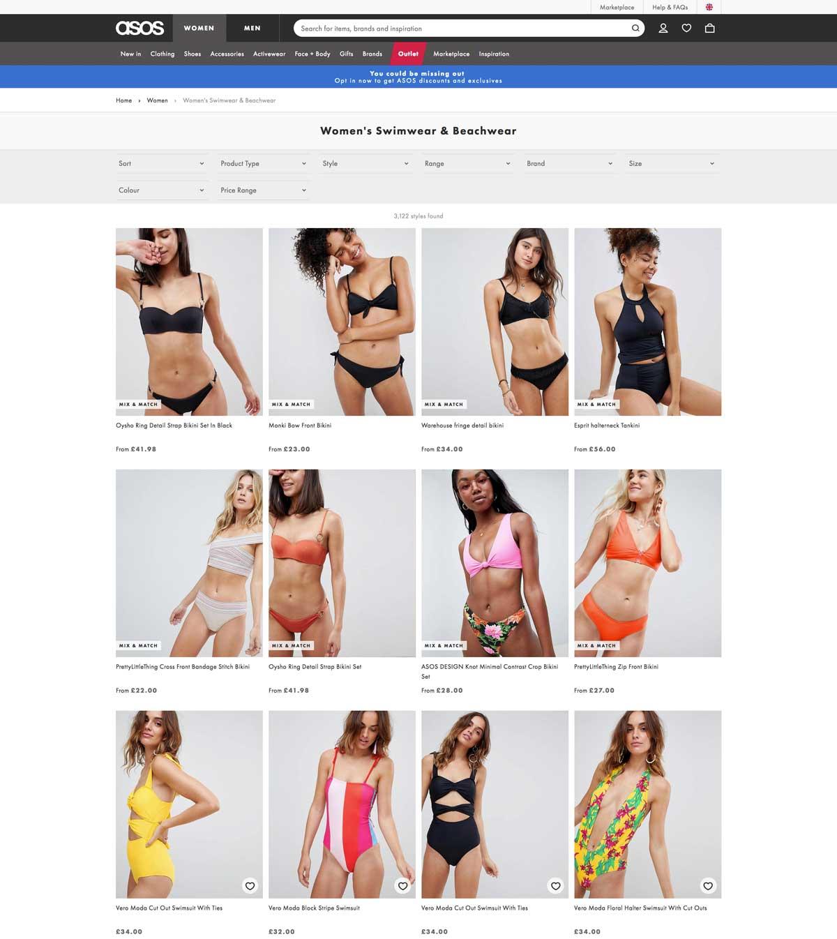 Produkt pro Übersichtsseite im E-Commerce