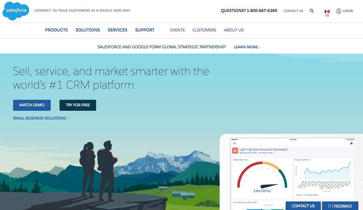 Design Landing Page Salesforce