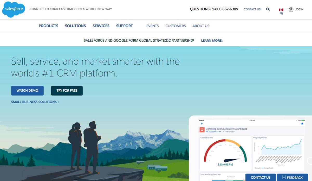 Design Landing Page Salesforce