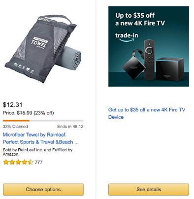 Imagen que muestra cómo Amazon informa del número de productos vendidos para generar urgencia