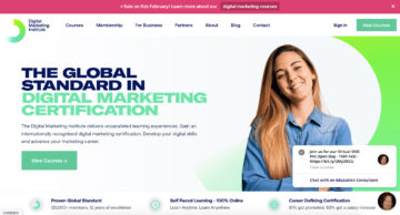 The Digital Marketing Institute, primacy and recency effect on Homepage