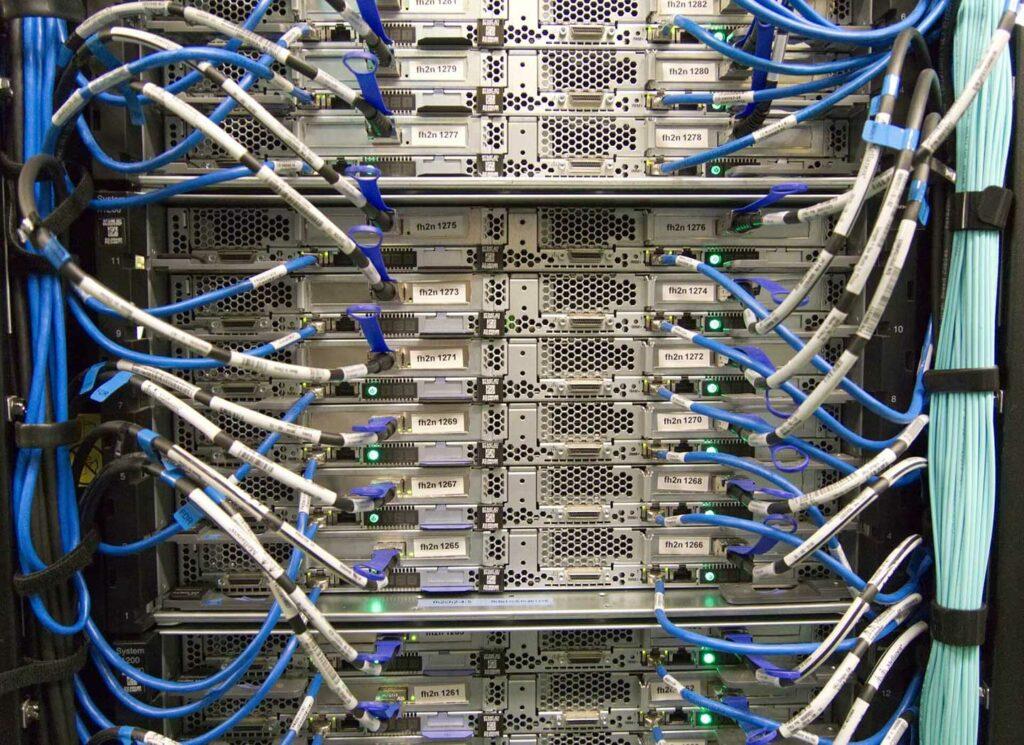 Multiple servers in a rack