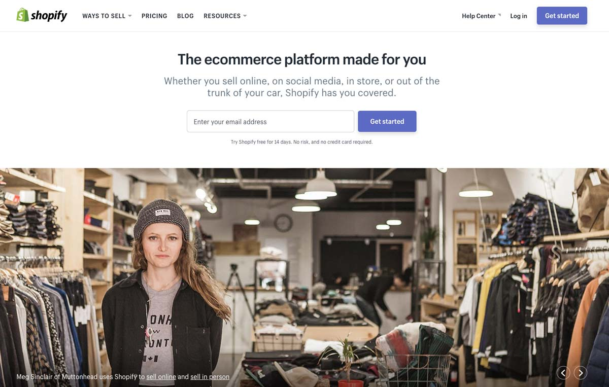Design Landing Page Shopify Hero Image