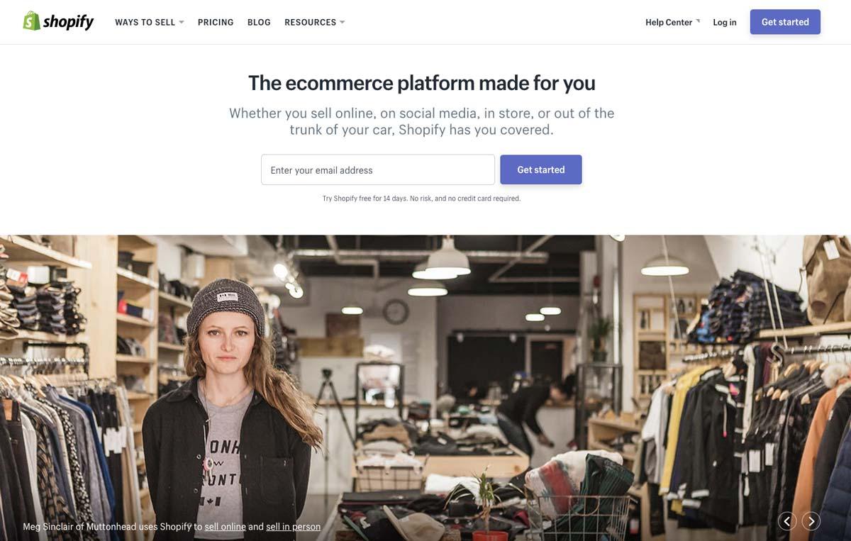Design Landing Page Shopify Hero Image