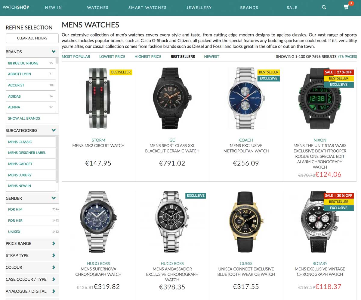 How to sort products in e-commerce listing page