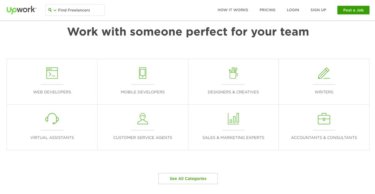 Design Landing Page Upwork