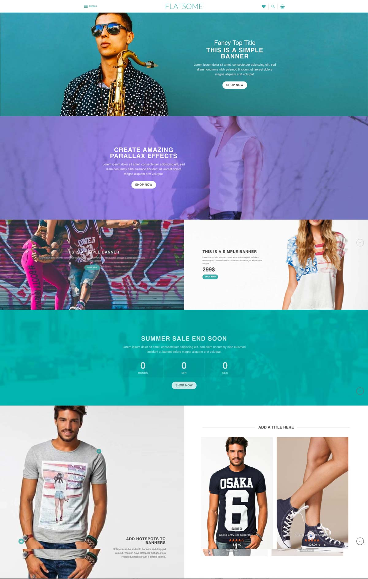 Wordpress Template Landing Page Online Shopping