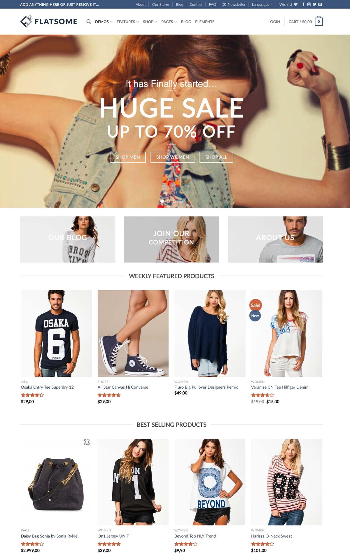 Wordpress Template Landing Page Shop