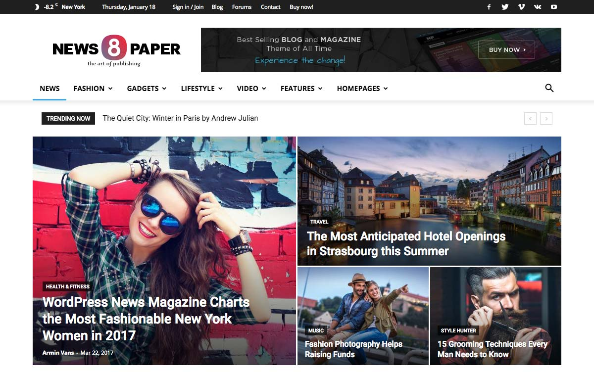 Wordpress Template Landing Page Newspaper