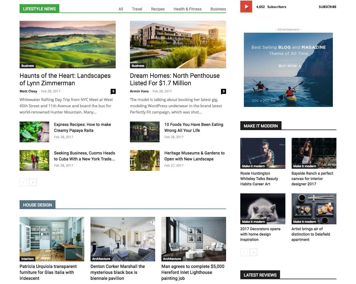 Wordpress Template Landing Page Media Publisher