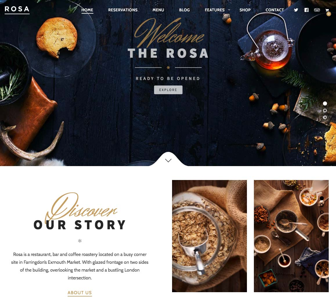 Wordpress Template Landing Page Restaurant