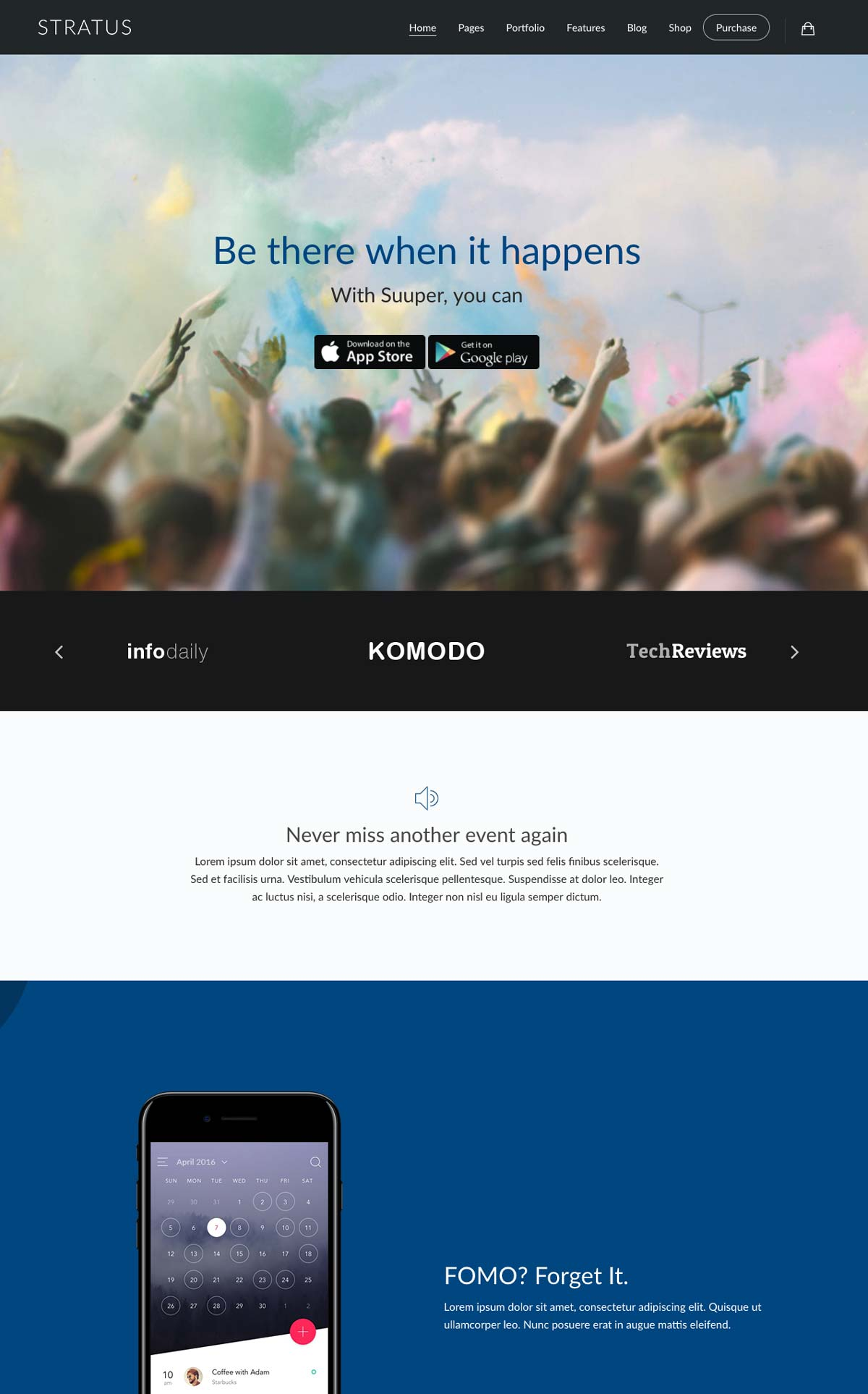 Wordpress Template Landing Page Mobile Application