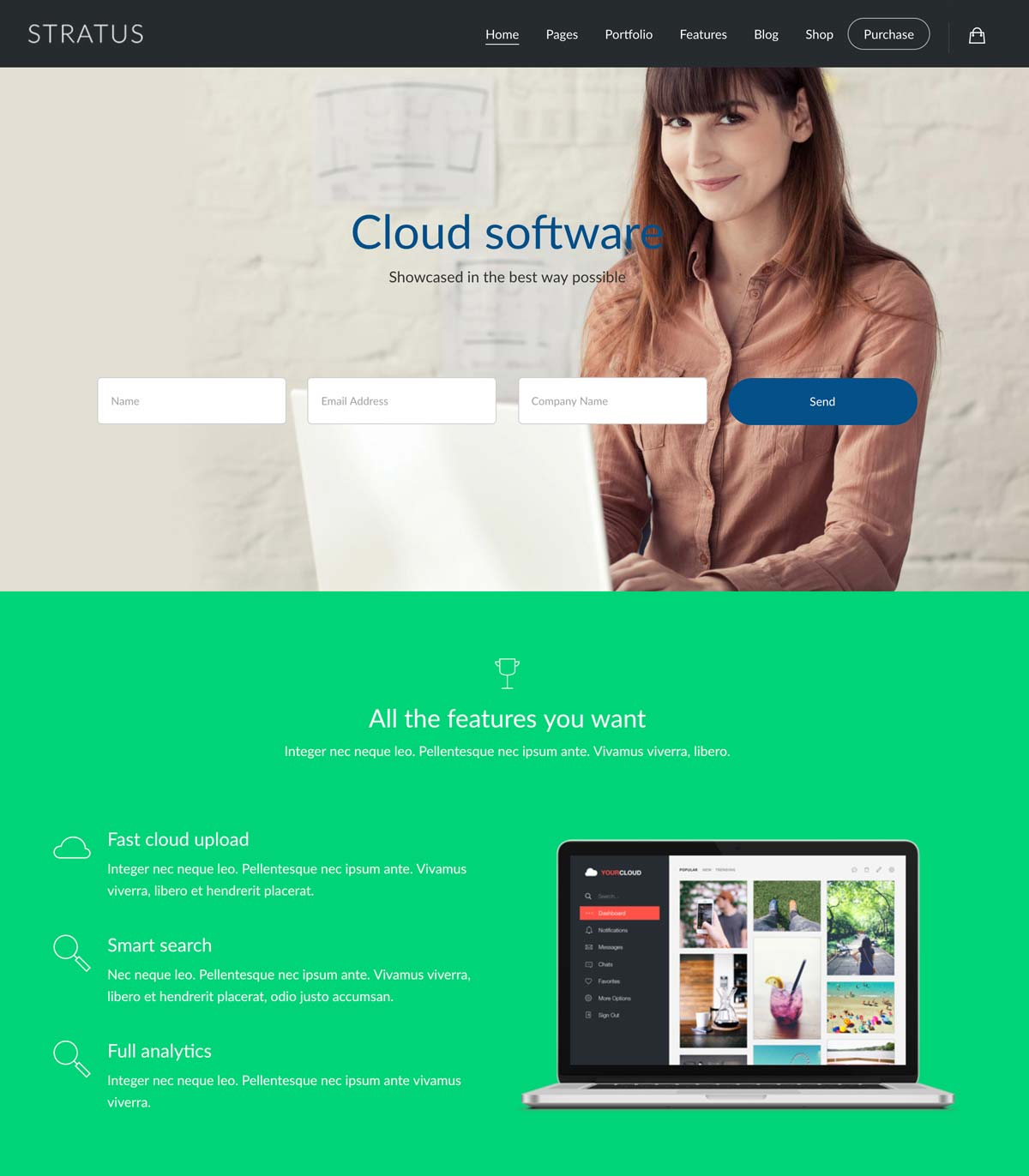 Wordpress Template Landing Page SaaS