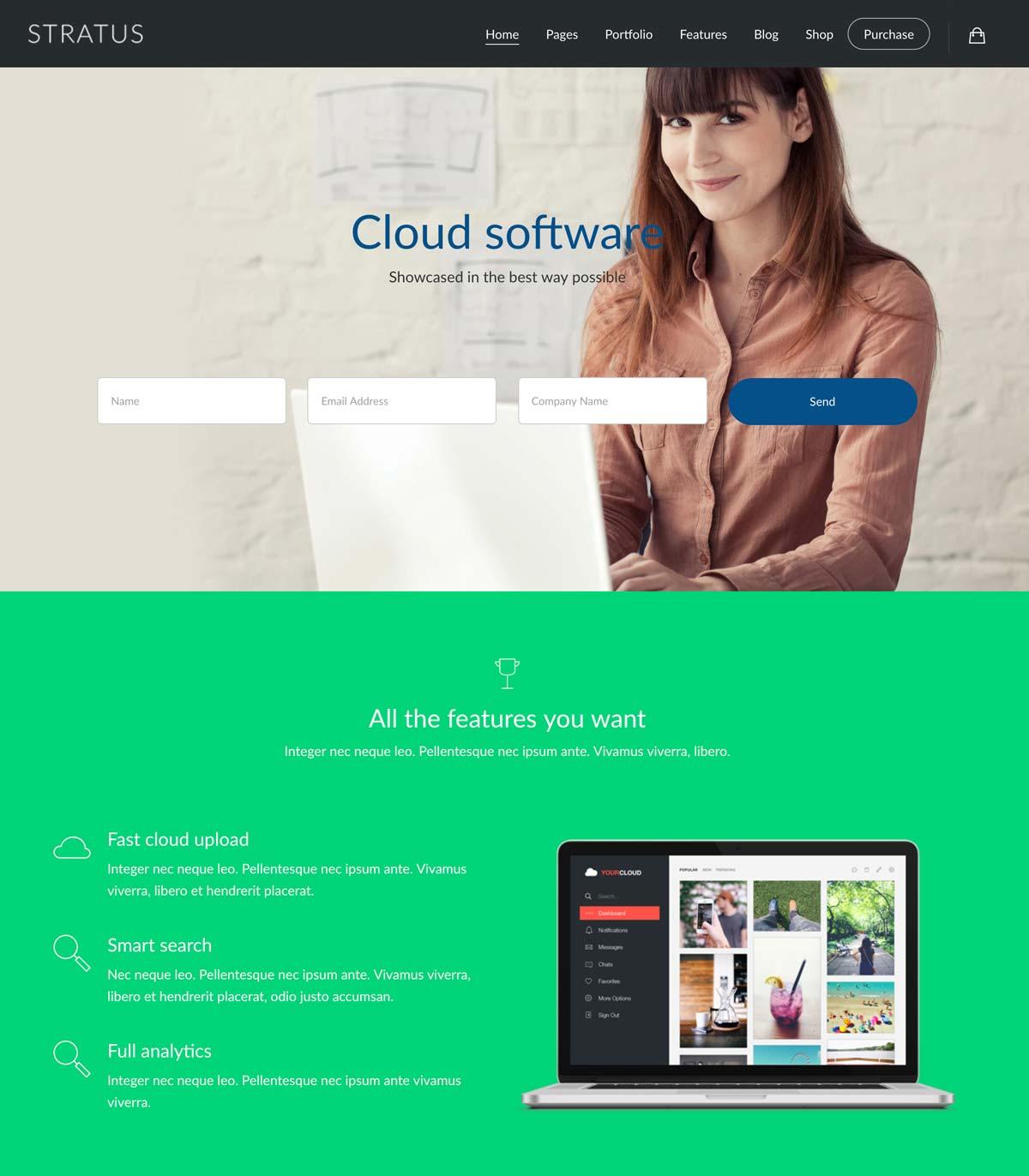 Wordpress Template Landing Page SaaS