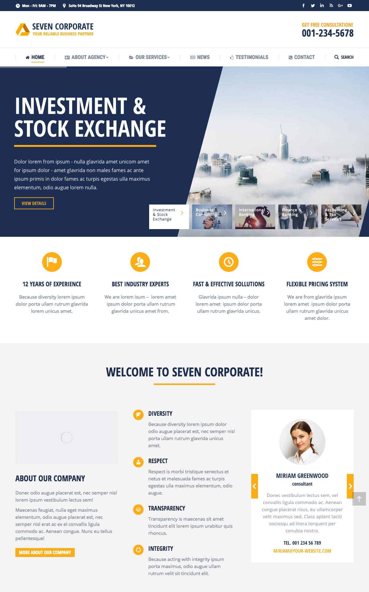 Wordpress Template Landing Page Corporate