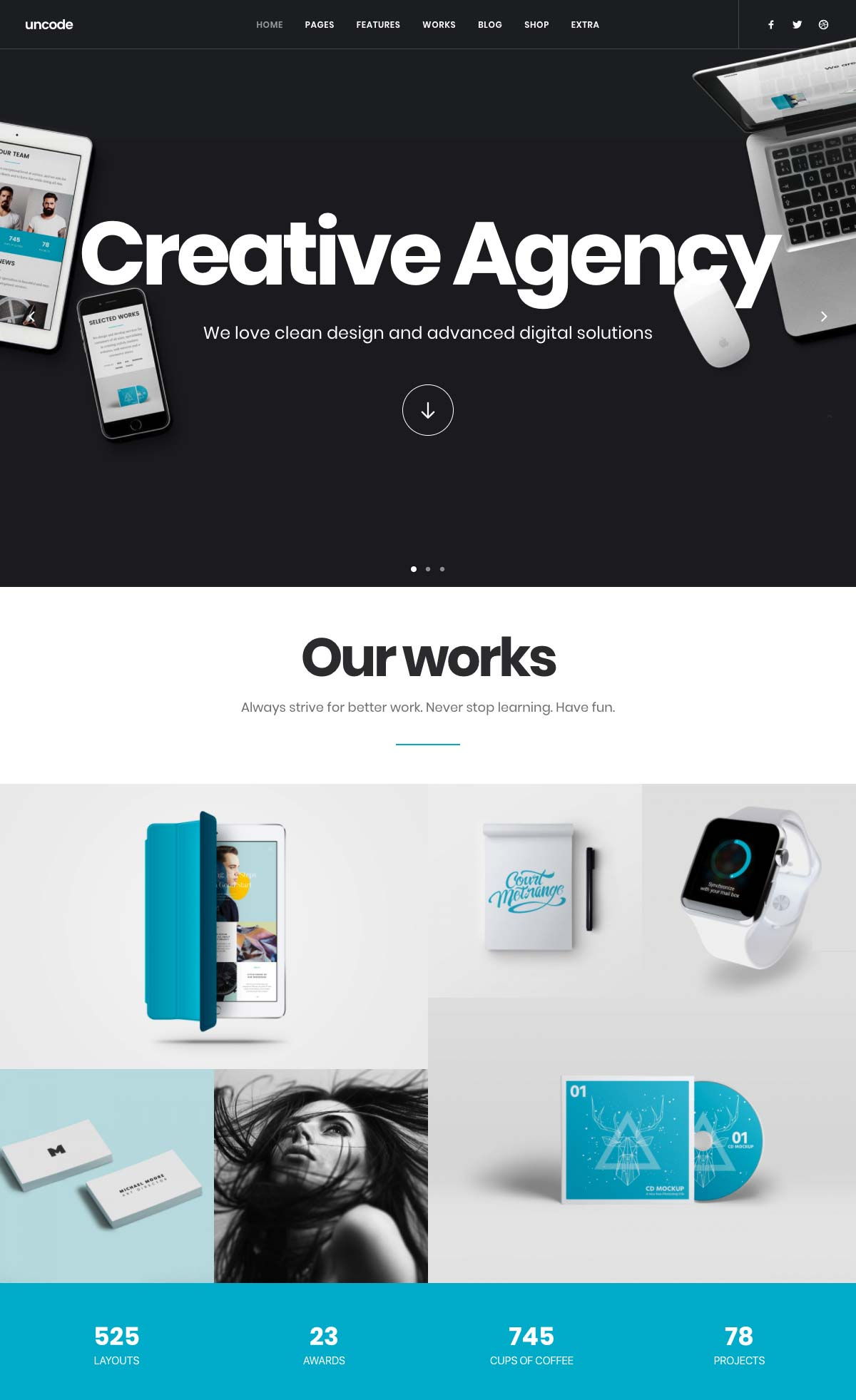 Wordpress Template Landing Page Creative Agency