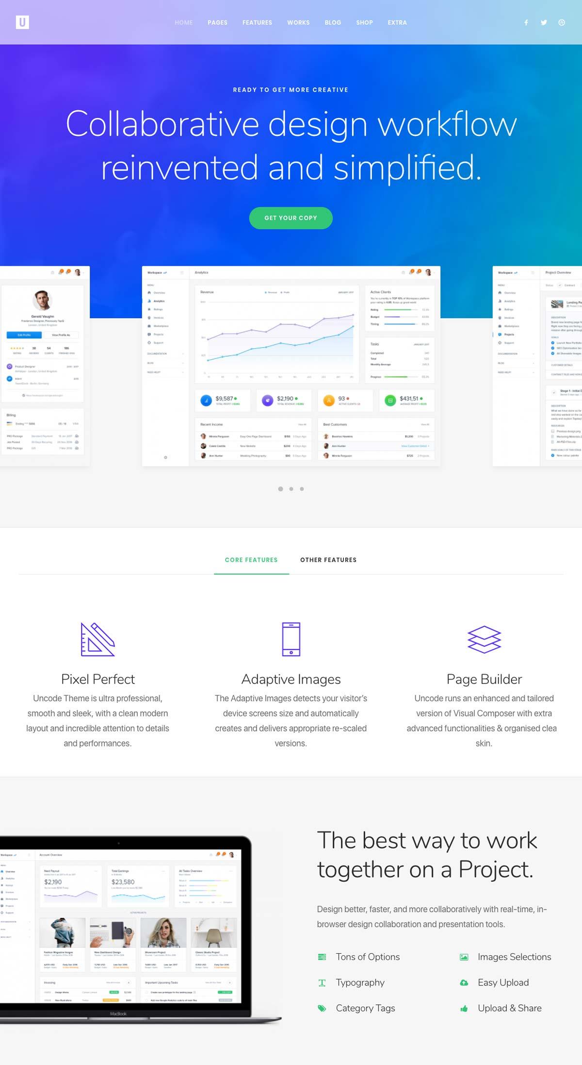 Wordpress Template Landing Page Startup