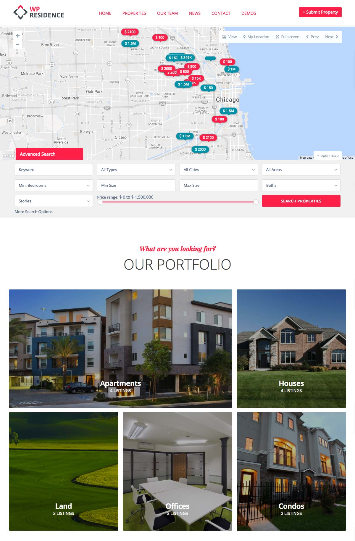 Wordpress Template Landing Page Real Estate