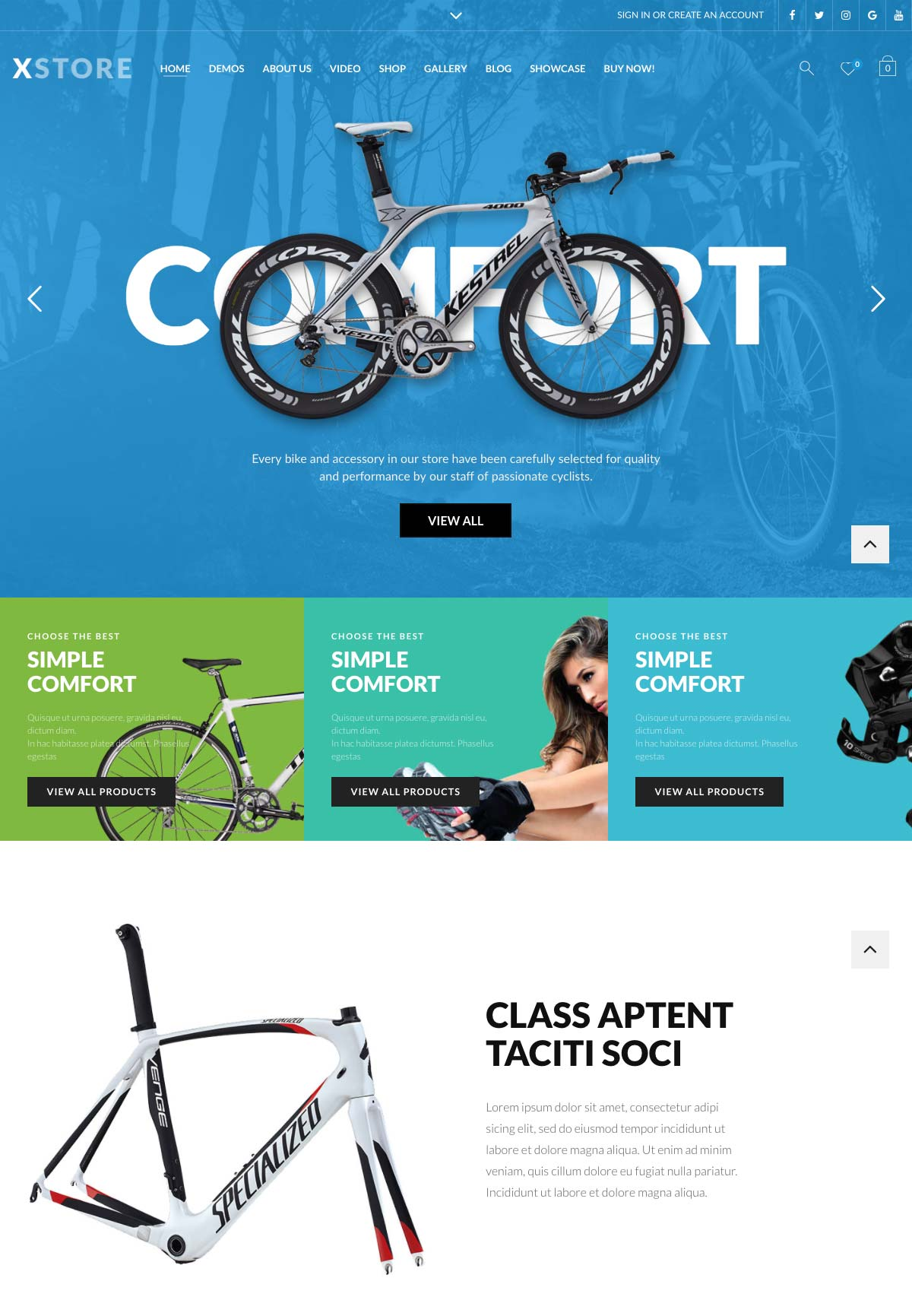 Wordpress Template Landing Page Biking