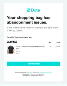 Warenkorbabbrecher shopping cart email